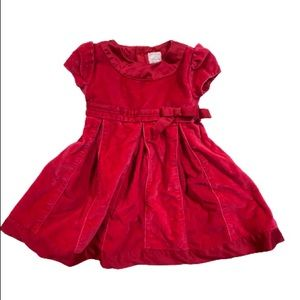 Carter's Red Corduroy Style Short sleeve dress